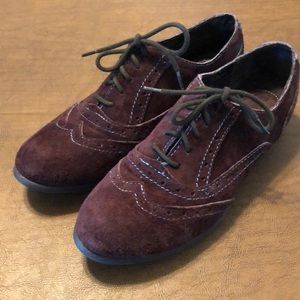 Born B.O.C. Brown Suede Suzette Wingtips Shoes 7.5